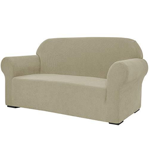 subrtex Stretch-Sofabezug, 1 Stück, für Wohnzimmer, Sessel, weiche Möbel, waschbar, Couch, Schonbezüge für Kinder/Hunde (Sofa, Sand)