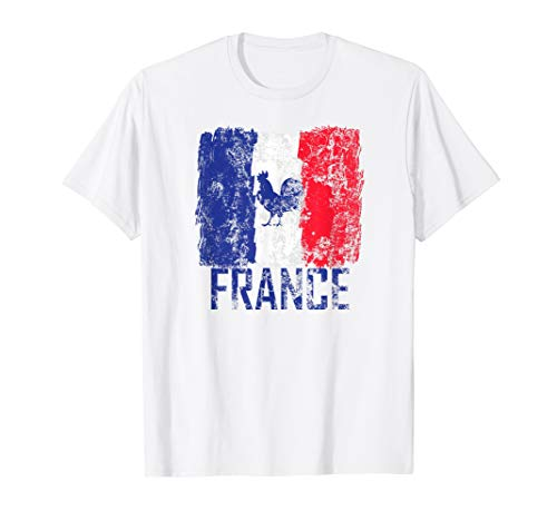 France Jersey Style Soccer French Football Rooster Fan Flag T-Shirt