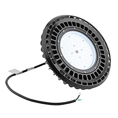 Barryblue 100W UFO LED High Bay Light Factory Warehouse Industrial Commercial Lighting Fixture 12000 Lumen 5700k IP54 204-LED