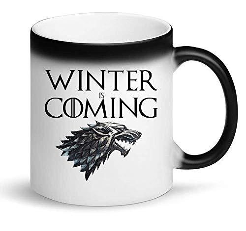 Sartamke zwart symbool van de winter komt spel van tronen Magic mok