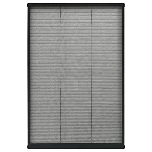 vidaXL Insektenschutz Plissee für Fenster Fliegengitter Dachfenster Mückengitter Mückenschutz Dachfensterplissee Aluminium Anthrazit 60x160cm