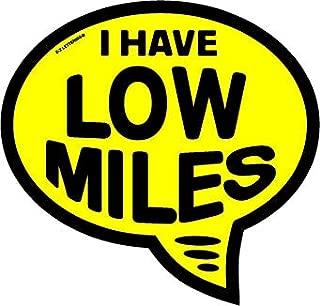 Ez-line Vinyl Year Slogan Bubbles for Car Lots 1 Dozen Windshield Decal Stickers Dealership Numbers (Low Miles)