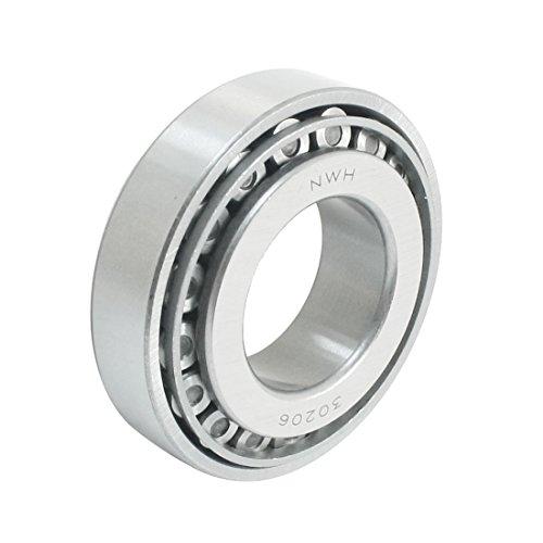 Rodamiento de rodillos cónicos de una fila YeVhear 30206 30 mm x 62 mm x 17,25 mm, ancho 2,4', 1,2 acero al carbono/caucho