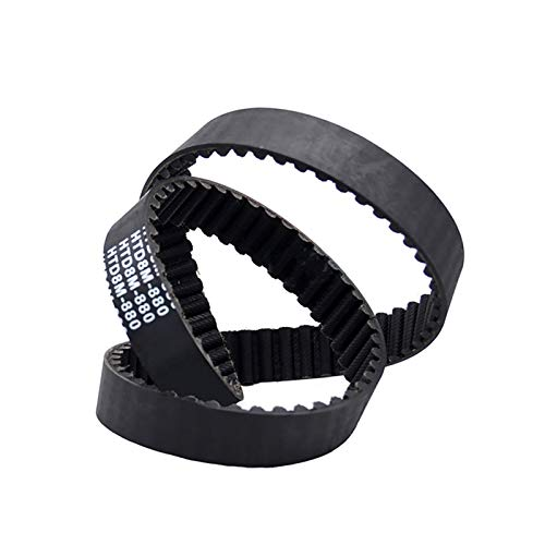 SHENYI Profesional 1 unids HTD 8M-1464 a 8M-1544 Cerradura Cinturón de Tiempo Cinturón de Tiempo Negro Accionamiento de Caucho Cinturones síncronos Ancho 20mm 25mm 30mm Industria