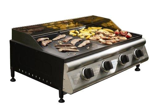 Cook-In-Garden - Plancha Gaz Estadilla 4 Inox À Poser (4 Brûleurs)
