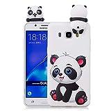 HongYong Funda Silicona 3D para Samsung Galaxy J5 (2016) / Samsung J510 Case Dibujo Panda Blanco Carcasas y Fundas para móviles Suave Flexible Delgado Bumper Diseño Animados Linda Caso Blando Bonitas