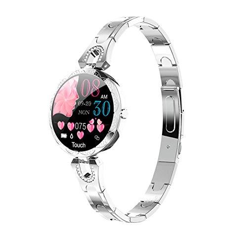 ZRY Señoras Reloj AK15 Smart Watch Ladies IP67 Impermeable Smartwatch Presión Arterial Rate Fitness Tracker Bracelet Vs H8 KW10 para Teléfonos iOS De Android,A