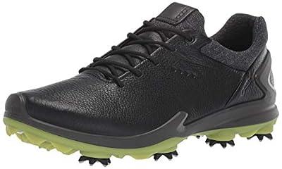 ECCO Men's Biom G3 Gore-TEX Golf Shoe, Black Yak Leather, 8-8.5