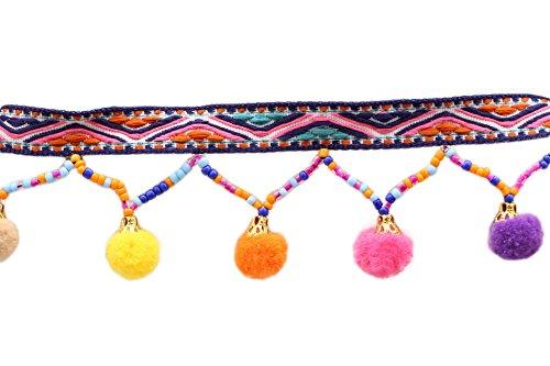 Violet Yalulu 10 Yards Multicolore Pom Pompom Ballon avec Bordure /à Pompons Frange Trim Dentelle Ruban R/éduire V/êtements Accessoires