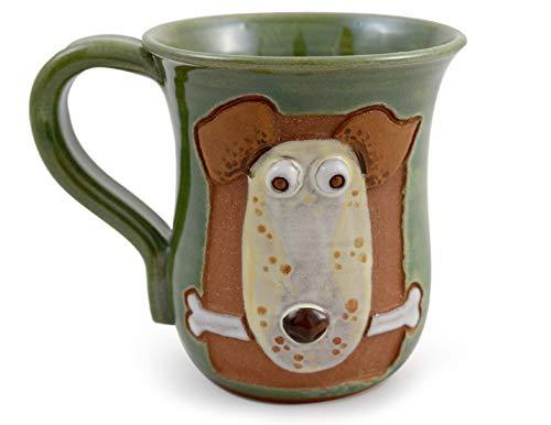Dog Gone Good Day Mug - American Handmade Stoneware Pottery, 14 oz