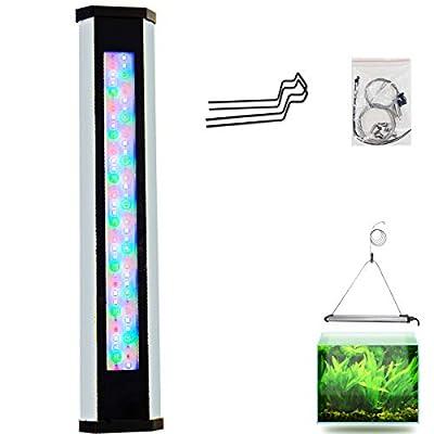 lumière LED Aquarium, Lampe d'Aquarium, d'éclairage LED pour Aquariums plantados Marine Corail Aquarium 30~ 60cm (Prise de l'UE)