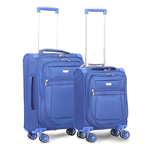 Aerolite Carry On 21' & Underseat 17 Inch Ultra-Lightweight Spinner Suitcase Set for Delta, American, United & Southwest Airlines (Midnight Blue)