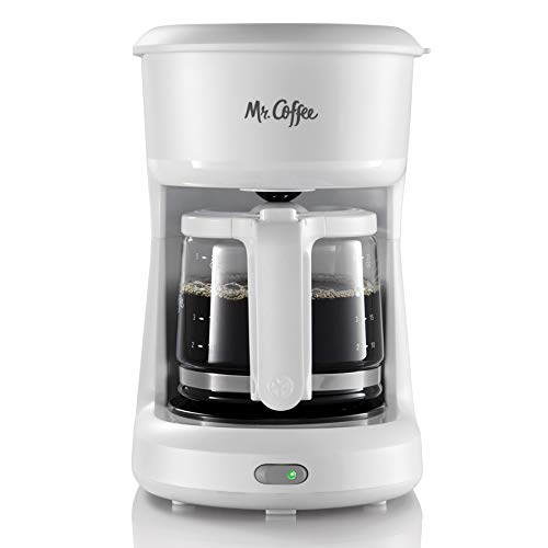 Mr. Coffee 2134286 ® 5-Cup Mini Brew Switch Coffee Maker, White