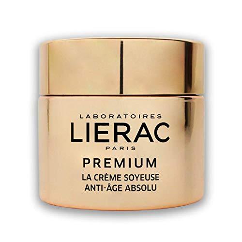 Lierac Premium La Crème Soyeuse Edizione Speciale Oro, Crema Setosa Viso, Anti-Età Globale, Acido Ialuronico, Rughe profonde, perdita di densità, rilassamento, Pelle da normale a mista. Formato 50ml