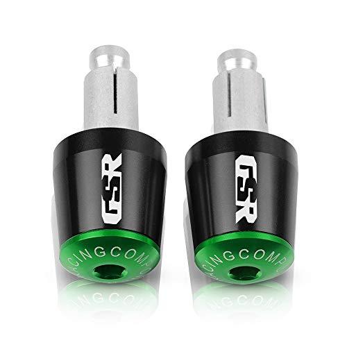 XHSM Accesorios modificación 7/8'22MM Empuñaduras De Manillar Motocicleta Tapa Deslizante Enchufe Extremo De Barra De Mano para S-UZUKI GSR750 GSR600 GSR400 GSX-S 750 2011 (Color : Black-Green)