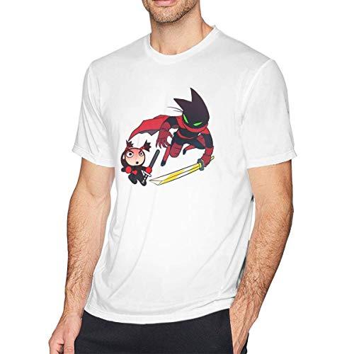 IUBBKI Camiseta Mao Mao Heroes Hombre Casual Comfort Camisetas de Manga Corta Tops Blanco