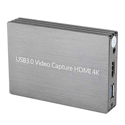 Shipenophy Captura de Video portátil de Uso Amplio 1080P 4K HDMI Caja de grabación de Buena compatibilidad USB 3.0 sin Unidad para computadora PC