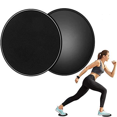 Slider Fitness,Core Sliders 2 Pezzi Esercizio Cursori Dischi di Scorrimento Disco Scorrevole Dual Sided Gliding Attrezzatura per Allenamento Addominali Full Body Workout in Palestra e a Casa