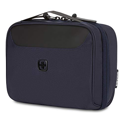 SWISSGEAR Toiletry Bag and Cord Organizer | Travel Tech Wire Case | Water Resistant | Zipper Closure – Navy