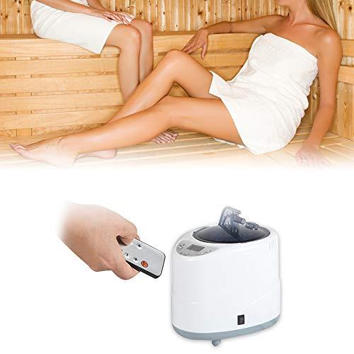 TOPQSC Sauna Dampferzeuger 1000W Edelstahl-Dampferzeuger 2L Hohe Kapazität Intelligente Begasungsmaschine Digitales Bedienfeld Wird im Dampfbad Und im Spa Verwendet,Um Gewicht zu Verlieren