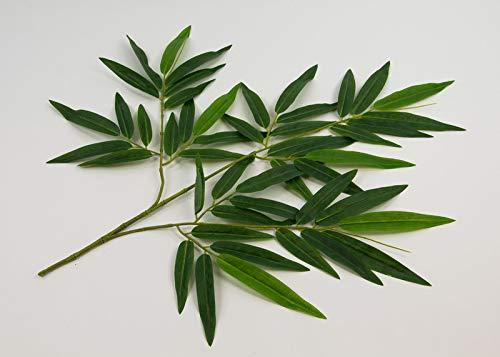 Seidenblumen Roß Bambuszweig 65cm DA - 48 Blätter DA Kunstzweig künstlicher Bambus Blattzweig