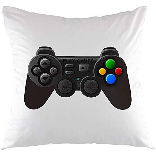 Ducan Lincoln Pillow Case Gamer Pilowcase, Joystick con Pulsanti Controller di Gioco Gamepad Federa per Cuscino Cuscino Quadrato Custodia per Divano Divano Camera da Letto Soggiorno