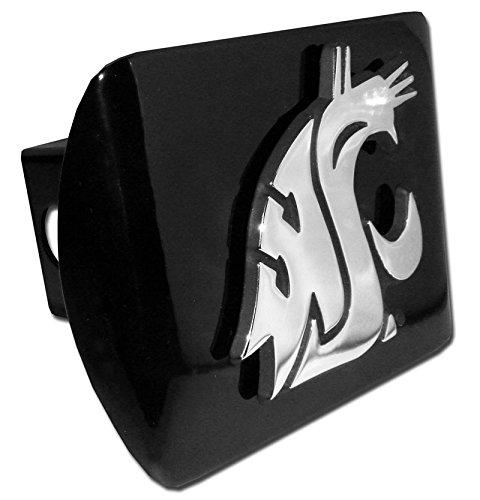 Elektroplate Washington State Cougars WSU Black Metal NCAA Trailer Hitch Cover Fits 2 Inch Auto Car Truck Receiver
