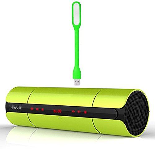 First2savvv altavoz portátil inalámbrico Bluetooth con radio FM, NFC, AUX Jack,ranura para...