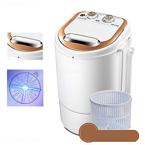 Wensa Single Barrel Mini Waschmaschine, Kompakte Mini Kleidung Waschmaschine Electric, Halbautomatische Trocknen und Waschen Kleine Baby-Eluting-Socken-Waschmaschine,A