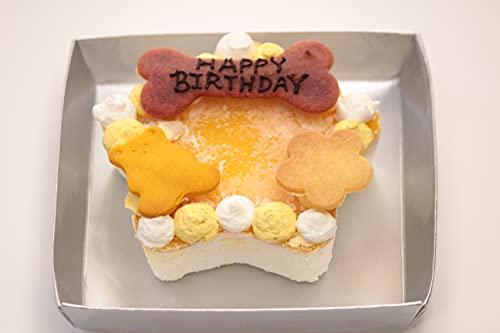 バースデーマンゴーのレアチーズケーキ 犬用 ケーキ 手作り 無添加 無着色 グルテンフリー ドッグ フード 犬 ごはん 記念日 誕生日 ごちそう ごほうび AndyCafe アンディカフェ ドッグメニュー (星型)
