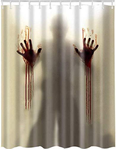 DOXMAL Unverwechselbaren blutigen Duschvorhang, Halloween Horror beängstigend Bad Vorhang wasserdicht, schimmelfrei, antibakteriell