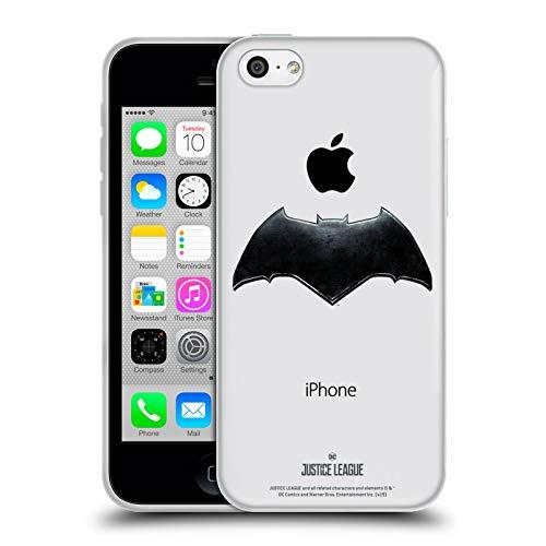 Head Case Designs Officiel Justice League Movie Batman Logos Coque en Gel Doux Compatible avec iPhone 5c