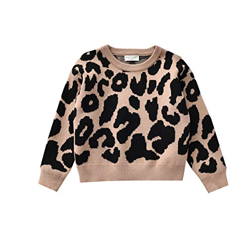 YURIO Toddle Baby Girl Boy Knit Pullover Sweater Kids Warm Coats Fall Winter Long Sleeve Tops Clothes (Black, 2-3 Years)