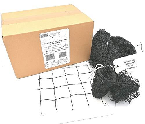 NUISIPRO Red de protección negra – Banda de 1,50 m x 5,00 m – Material fácil de cortar.