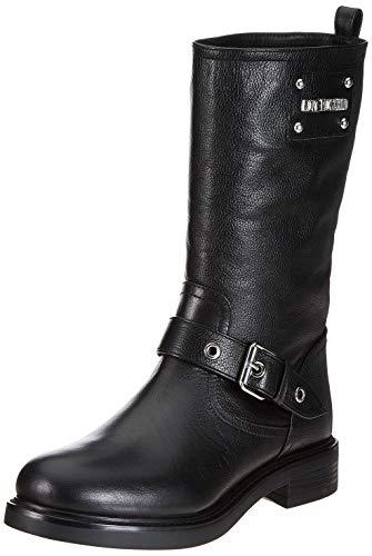 Love Moschino Damen St.Ttod.Gomma35 VIT.St.Bufalo Biker Boots, Schwarz (Nero 000), 38 EU