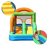 DSHUJC Inflatables Hüpfburgen Multifunktionales Trampolin Kinderrutschen Laufstall Ocean Ball Pools Outdoor Home Square Hüpfbett (83,8 * 155,9 * 96 Zoll)