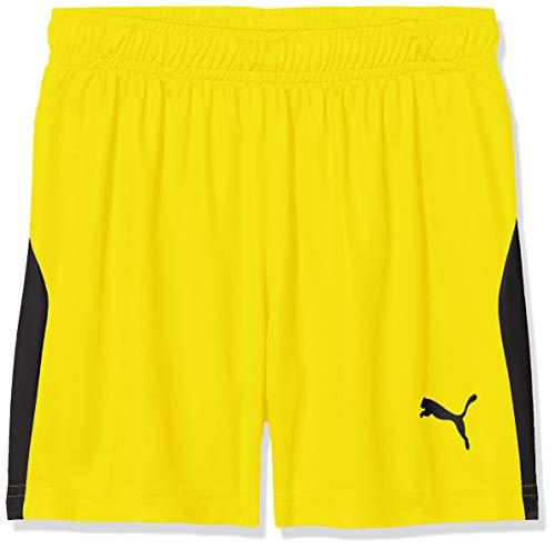 PUMA Kinder Shorts LIGA, Cyber Yellow/Puma Black, 140, 703433