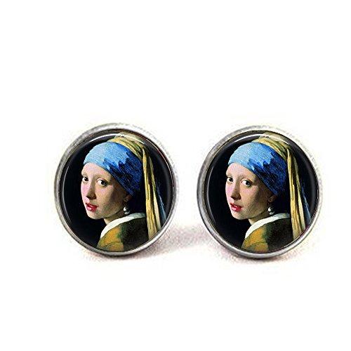 b2b Mädchen Eine Perle Ohrring Johannes Vermeer–Klassische Art Anhänger–Vermeer Anhänger Ohrringe
