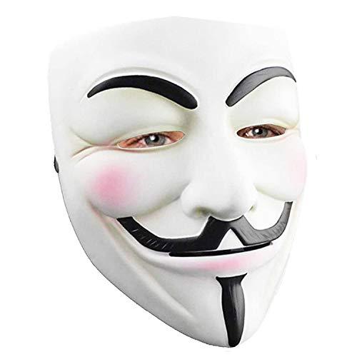 2 Pack Hacker Mask for Halloween Costume - V for Vendetta Spy Ninjas Mask Anonymous Guy Mask