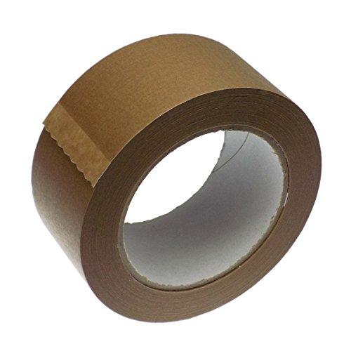 2 Rollen Papier Klebeband Paketband Packband 50m X 50mm braun 120my
