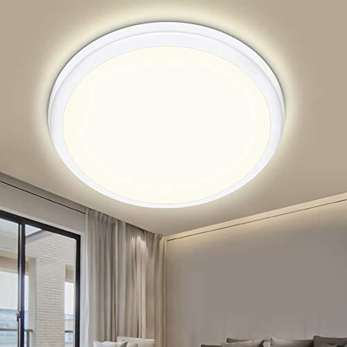LED Deckenleuchte bad, Oraymin 18W 1800LM LED Deckenleuchten, IP54 Wasserfest led Lampe für Bad Schlafzimmer Küche Balkon Wohnzimmer Flur, Neutralweiß 4000K, Wohnzimmer led Ø25cm