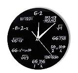 Hanjiming Números De Ingeniería Matemáticas Reloj De Pared Ecuación Matemática Reloj Decorativo Pop Quiz Arte De La Pared Ciencia Regalo para Matemáticos Frikis Y Maestros