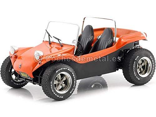 Solido S1802702 421184890-1:18 Meyers Manx Buggy, 1970, Modellauto, Modellfahrzeug, orange/schwarz