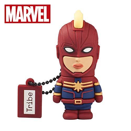 Oferta de Llave USB 16 GB Captain Marvel - Memoria Flash Drive 2.0 Original Marvel Avengers, Tribe FD016507