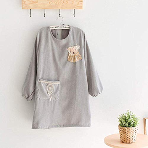 AMITD Keukenschort, met lange mouwen blouses, waterdichte en oliedichte schort, barbecue baktuin restaurant café-zakschort, verstelbare schort-AANN D. D.