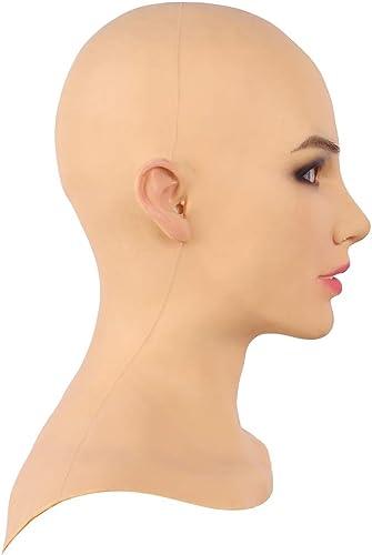 echa un vistazo a los más baratos COS Travesti Belleza Silicona Suave Realista Máscara de de de Cabeza Femenina Cara Hecha A Mano para Crossdresser Transgénegro Cosplay Drag Queen Disfraces de Halloween Mascarada  punto de venta
