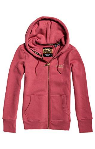 Superdry Damen Orange Label Elite Ziphood Kapuzenpullover, Pink (Tiana Rose Q4h), XX-Small (Herstellergröße: 6)