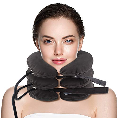 Cervical Neck Traction Device &Inflatable Adjustable Neck Stretcher Provide Neck Support Neck Traction and Neck Pain Relief,Neck Brace and Cervical Traction Device is The Best Neck Care Equipment