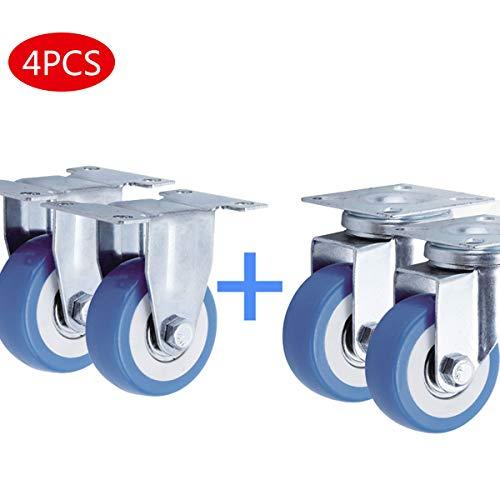 GYNFJK 2 inch meubels universele wielwagen steiger met rem wasmachine wiel basis bewegende caster