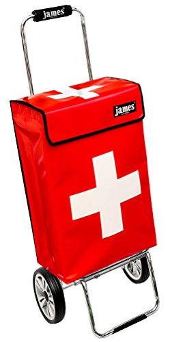 james® Einkaufstrolley Design Swiss Deluxe, moderner Einkaufswagen, bunter Lifestyle Trolly, Rollkoffer, 40kg Tragkraft, klappbar, Made in EU!